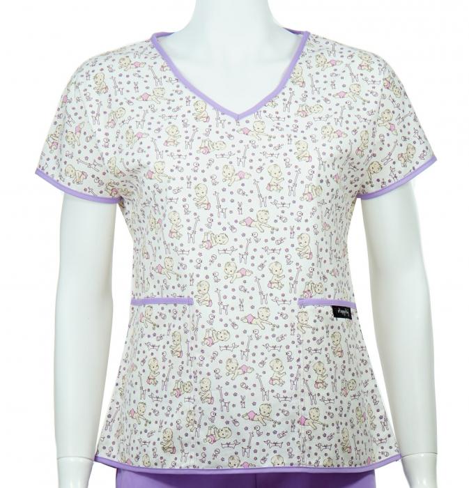 Bluză compleu - Bebelusi (mov) 0