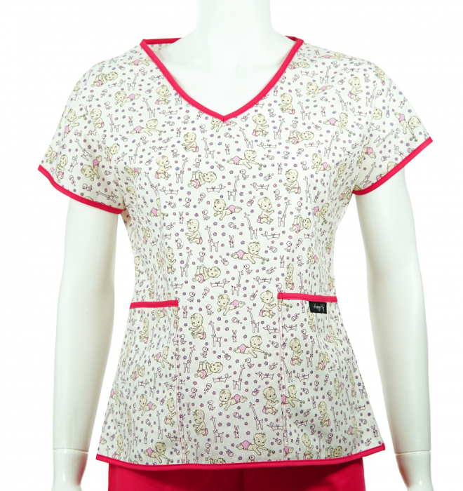 Bluză compleu - Bebelusi (roz) 0