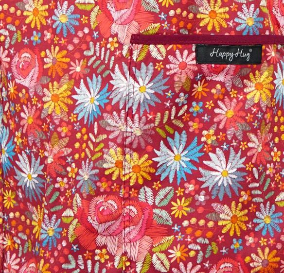 Bluză Compleu - Designer Print - Bordeaux Flowers 46 [3]