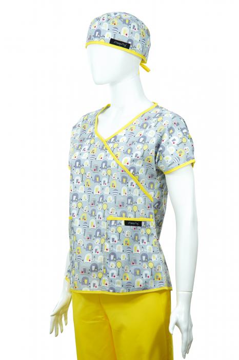 Bluză Compleu - Designer Print - Elefănței Gri 36 2
