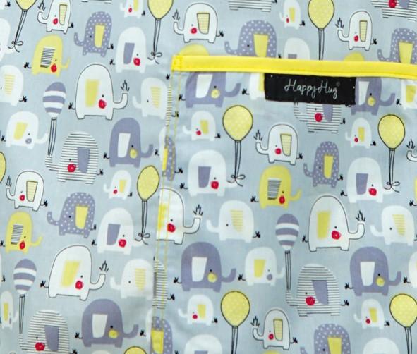 Bluză Compleu - Designer Print - Elefănței Gri 36 3