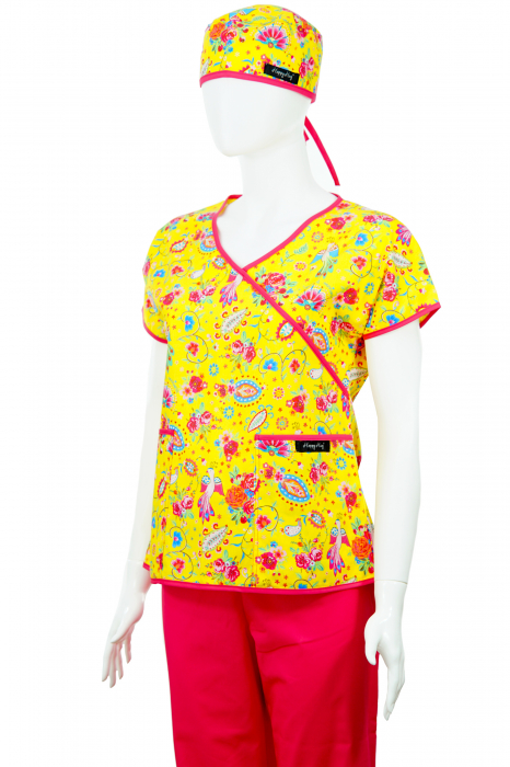 Bluză Compleu - Designer Print - Happiness Yellow 2