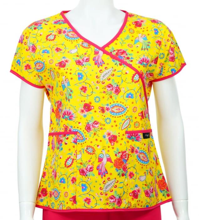 Bluză Compleu - Designer Print - Happiness Yellow 0