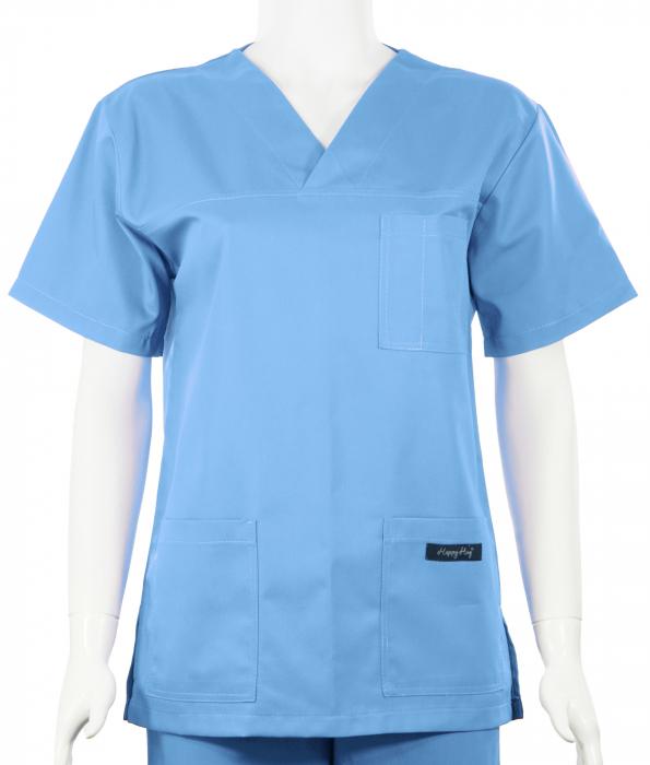 Bluză Uni - Bleu 0