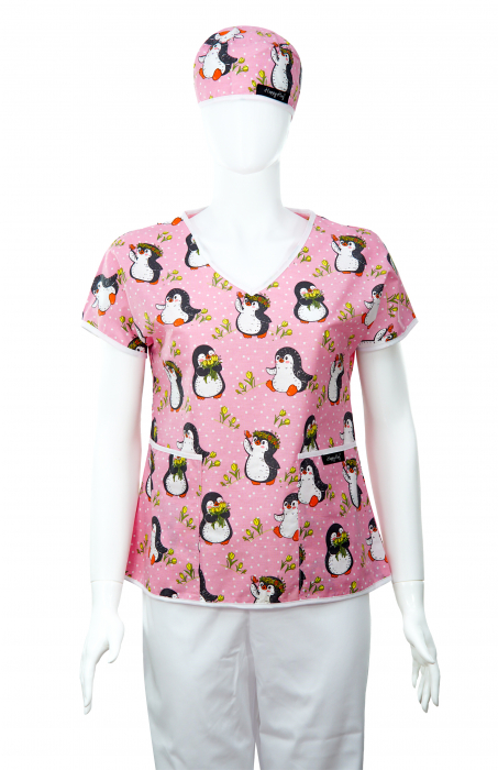 Bluza compleu - Pinguini roz [1]