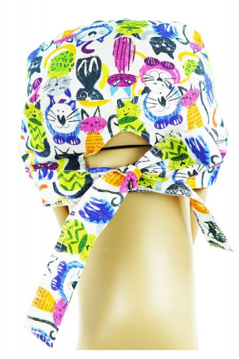 Boneta textila pisici colorate 2