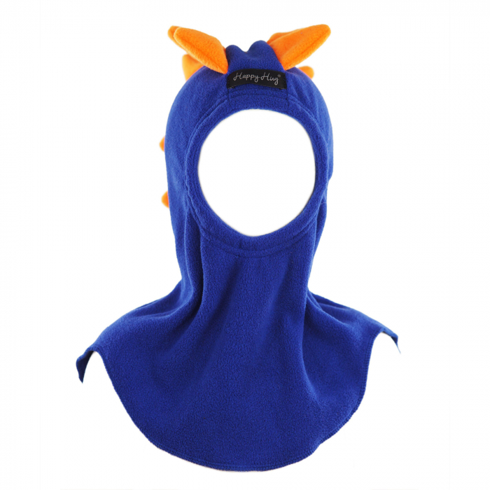 Cagulă Dino cu solzi portocalii Albastru 2