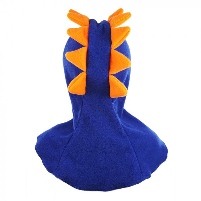 Cagulă Dino cu solzi portocalii Albastru 4