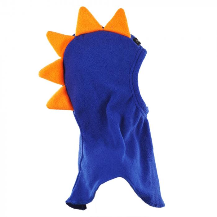 Cagulă Dino cu solzi portocalii Albastru 3