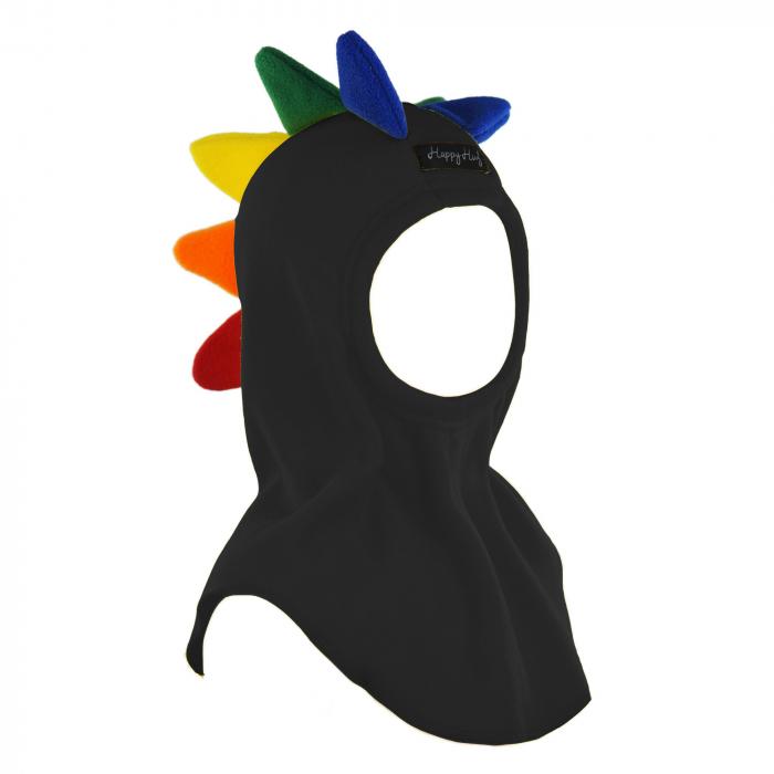 Cagulă Dino Curcubeu Negru 0