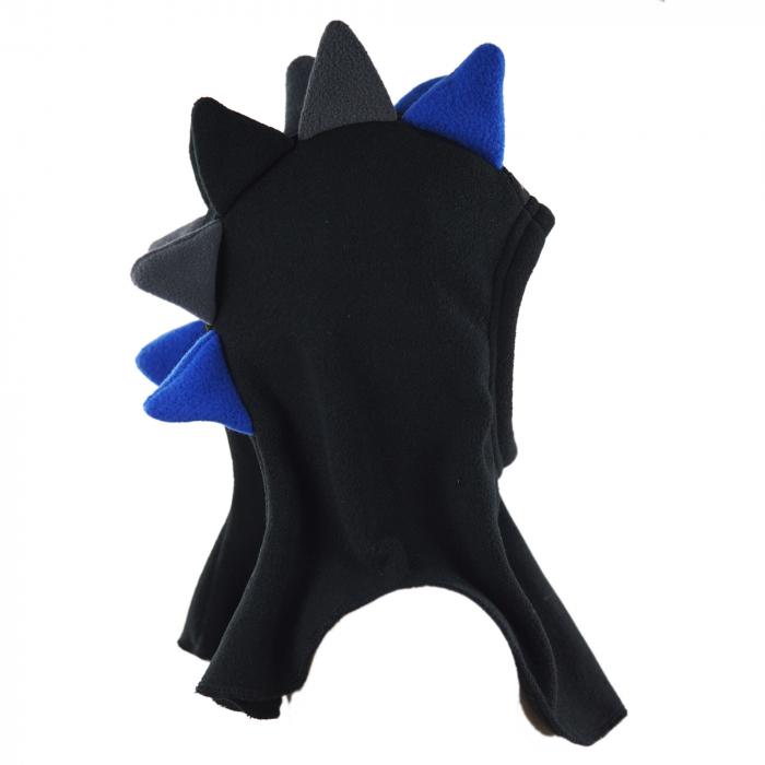 Cagulă Dino Negru/Albastru 3