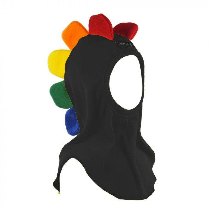 Cagulă Petale Curcubeu Negru 0