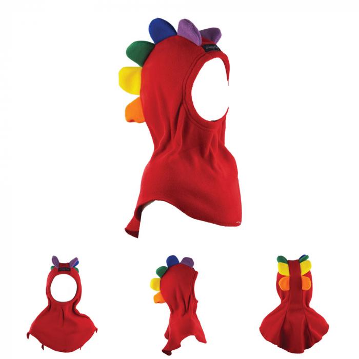 Cagulă Petale Roșu/Rainbow 0