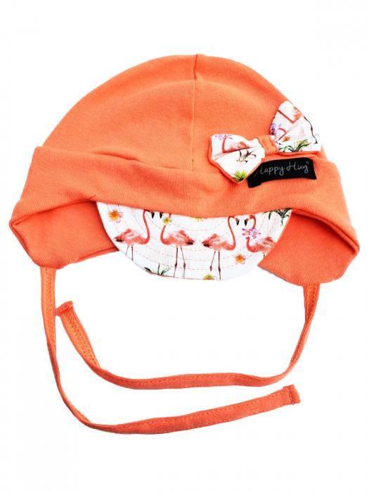 Căciulă Bumbac - Coral Flamingos 0
