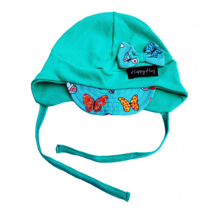Căciulă Bumbac - Teal Butterflies [0]