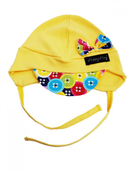 Căciulă Bumbac - Yellow Buttons [0]