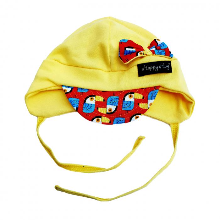 Căciulă Bumbac - Yellow Tucans 0