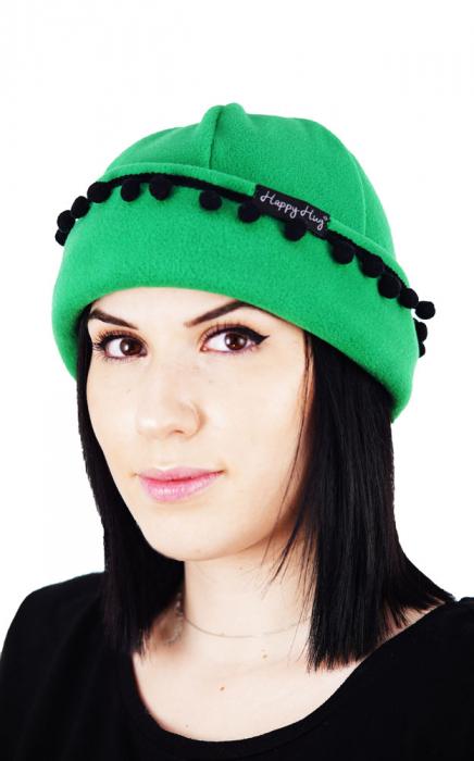 Căciulă Damă cu Ciucurași - Verde & Negru L [0]