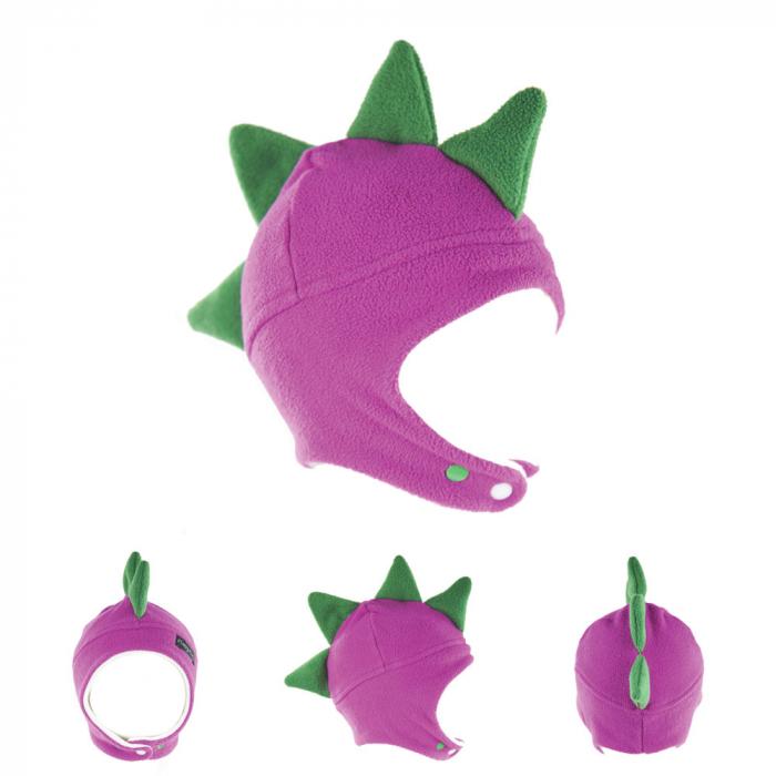 Căciulă Dino - Mov/Verde 0