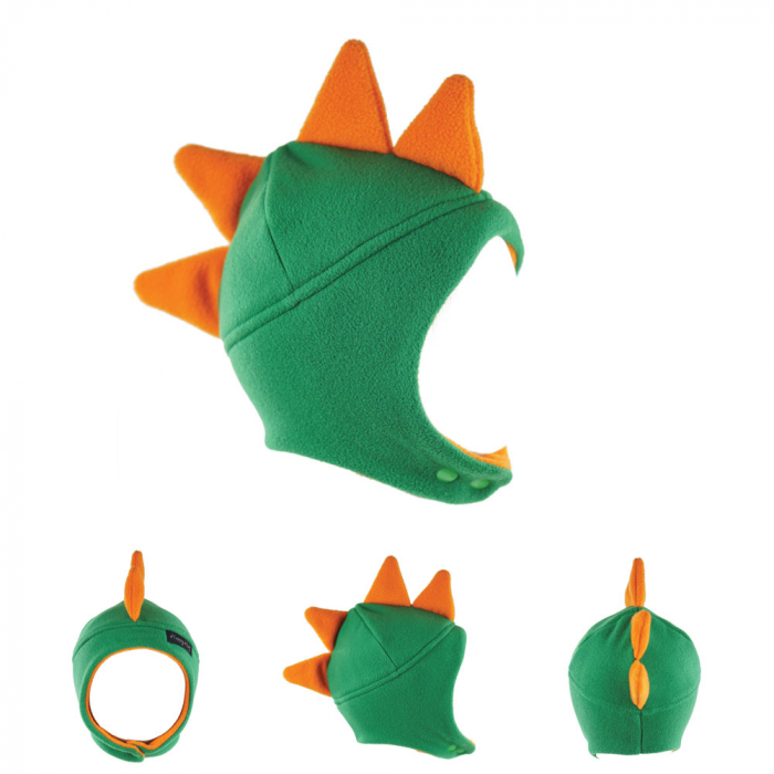 Căciulă Dino - Verde/Portocaliu 0