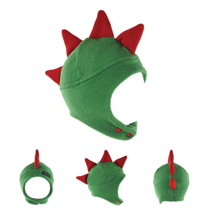 Căciulă Dino - Verde/Roșu 0