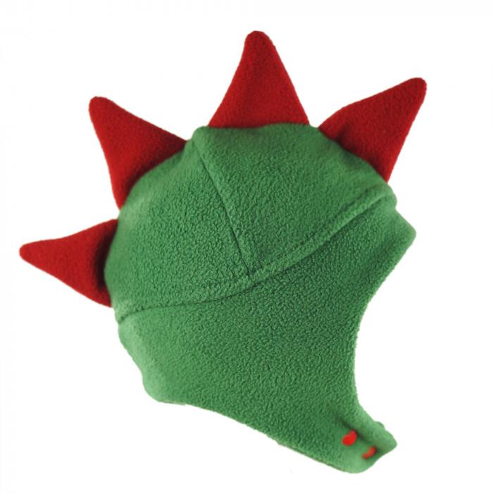 Căciulă Dino - Verde/Roșu 4