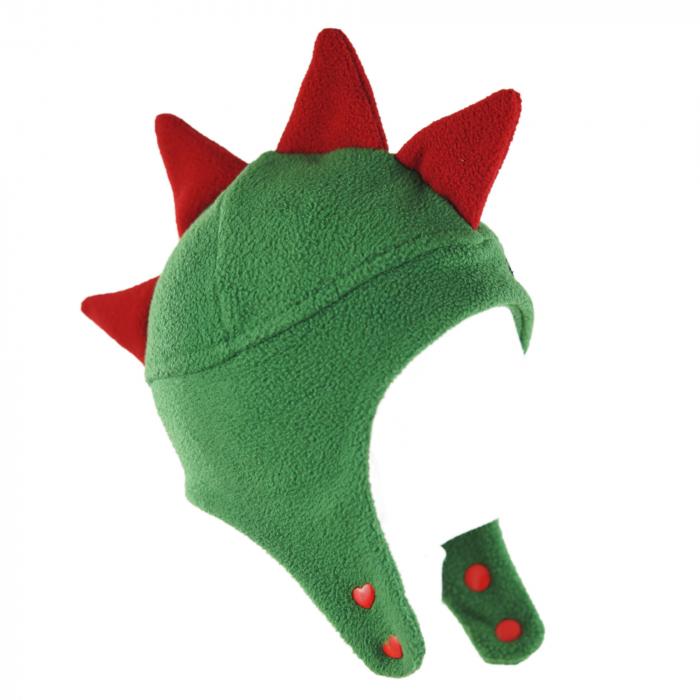 Căciulă Dino - Verde/Roșu 2