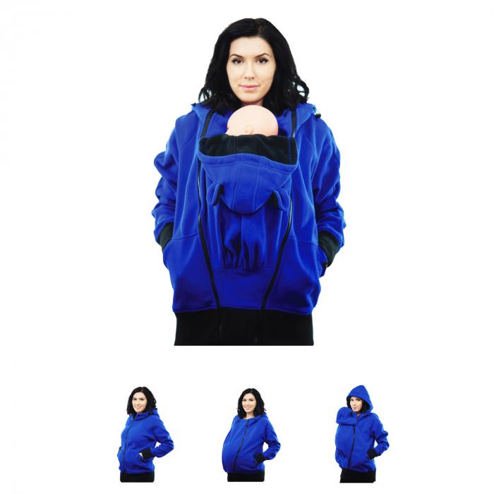 Hanorac 3 în1 Babywearing - Albastru L [0]