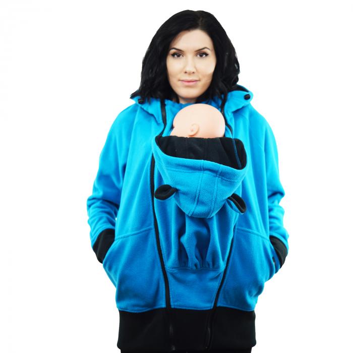 Hanorac 3 în1 Babywearing - Bleu L [4]