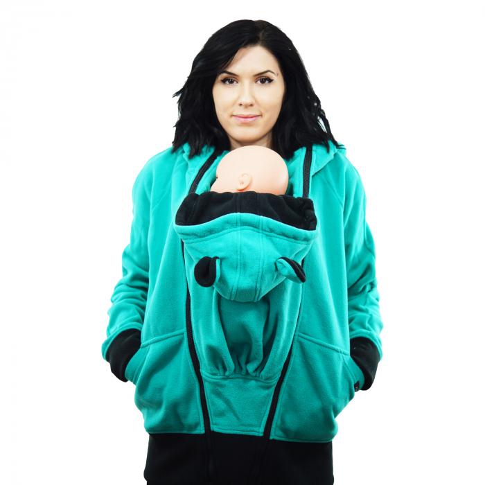 Hanorac 3 în1 Babywearing - Verde Menta L [5]