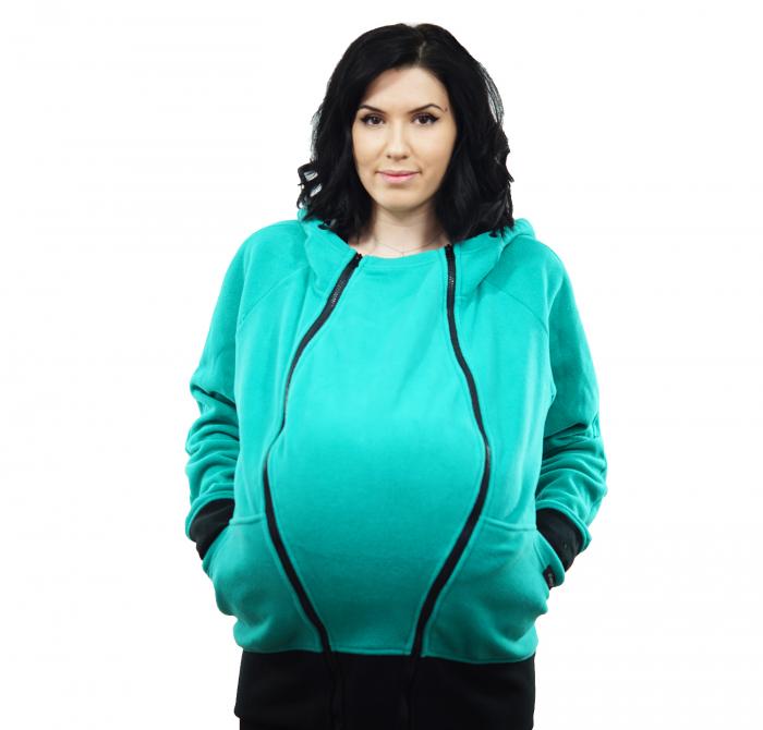Hanorac Babywearing 3 in 1 - Verde Menta [4]