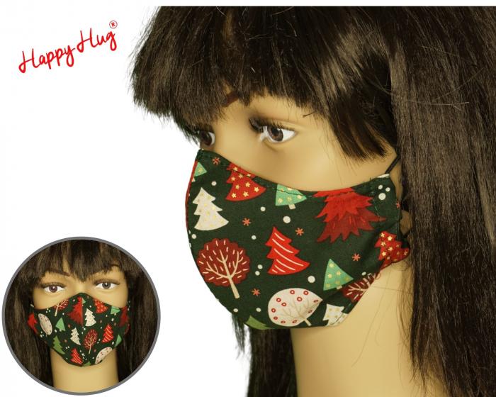 Mască Textilă - Braduti pe fond verde ergo 0