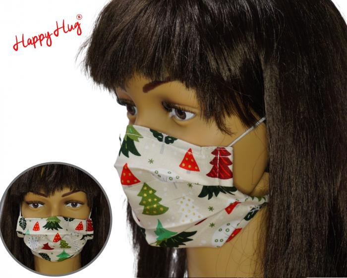 Mască Textilă cu Pliuri - Braduti fond crem 0