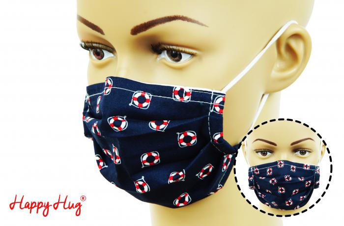 Mască Textilă cu Pliuri - Colaci Salvare [0]
