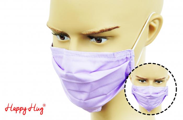 Mască Textilă cu Pliuri - Lila 0