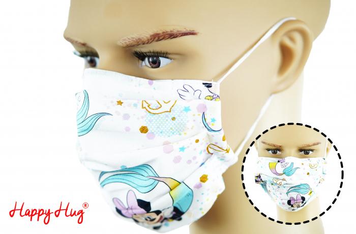 Mască Textilă cu Pliuri - Minnie Sirenă 0