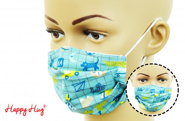 Mască Textilă cu Pliuri - Notebook [0]