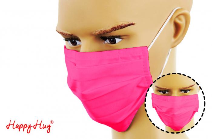 Mască Textilă cu Pliuri - Roz [0]