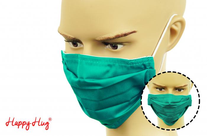 Mască Textilă cu Pliuri - Teal [0]