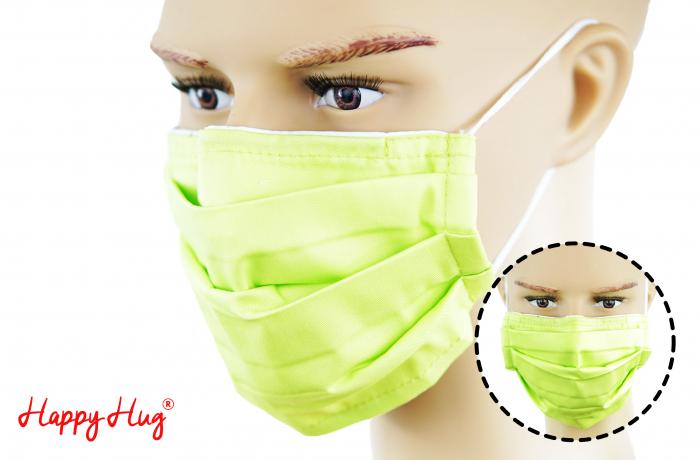 Mască Textilă cu Pliuri - Verde Praz [0]