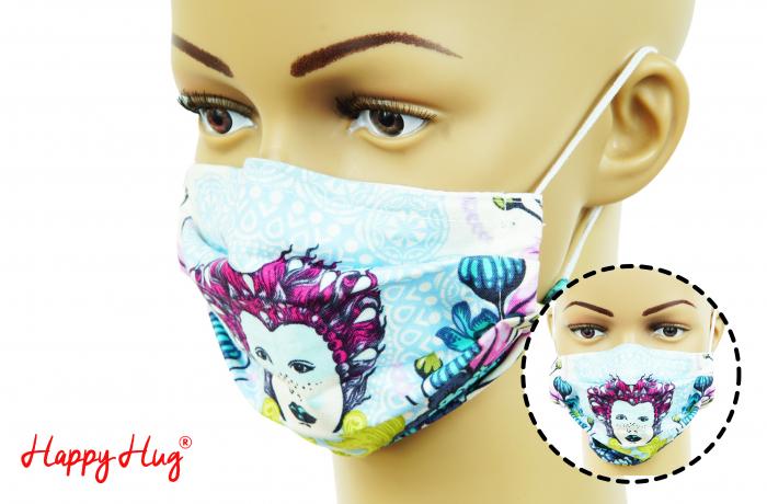 Mască Textilă cu Pliuri - Zeiță [0]