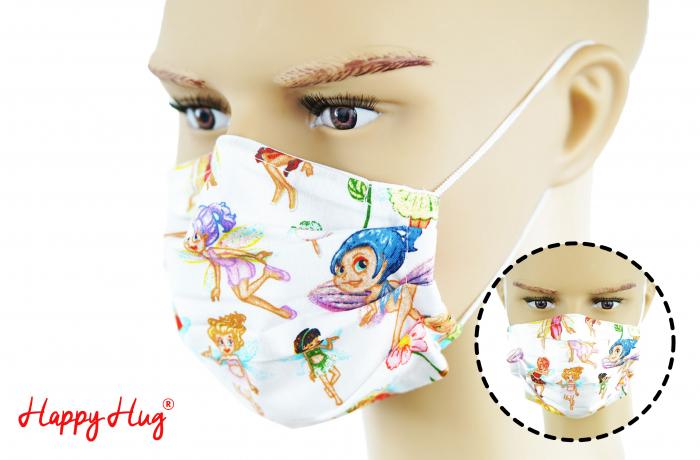 Mască Textilă cu Pliuri - Zâne 0