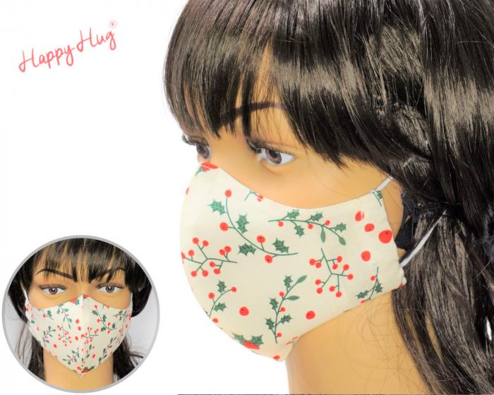Mască Textilă - Floarea Craciunului [0]