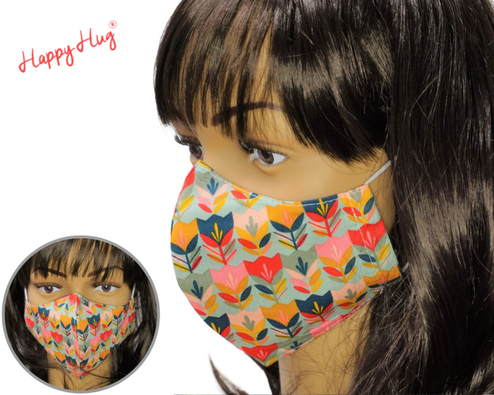 Mască Textilă - Lalele Teal [0]