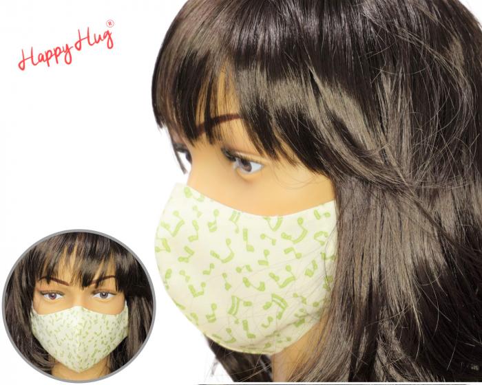 Mască Textilă - Note Muzicale  0