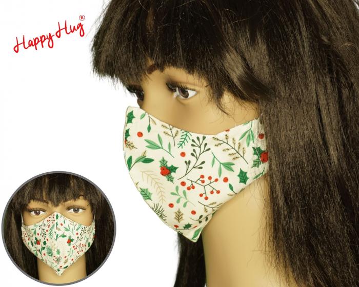 Mască Textilă - Plante Craciun ergo [0]