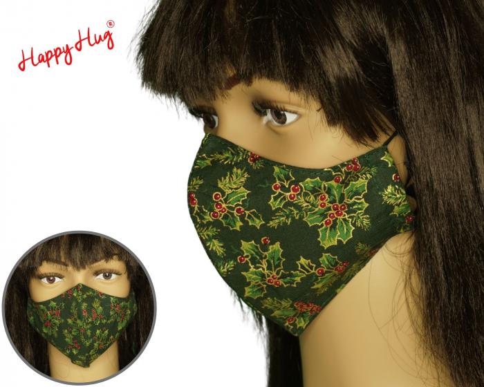 Mască Textilă - Poinsettia auriu ergo 0