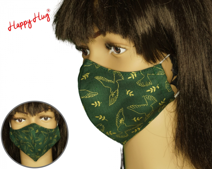 Mască Textilă - Porumbelul pacii auriu ergo [0]