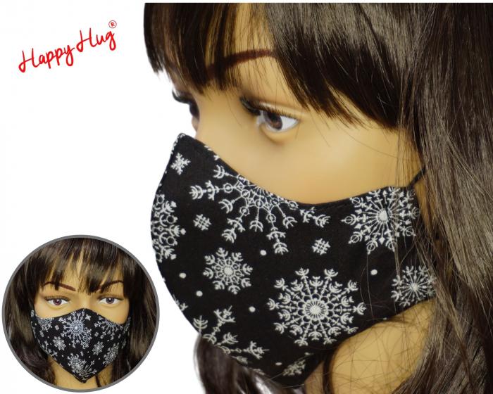 Mască Textilă - Snowflakes Black [0]