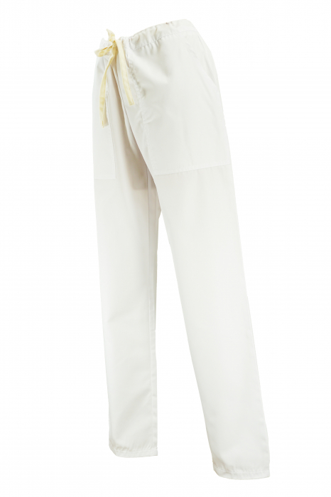Pantalon cu Buzunare - Alb 2XL 1